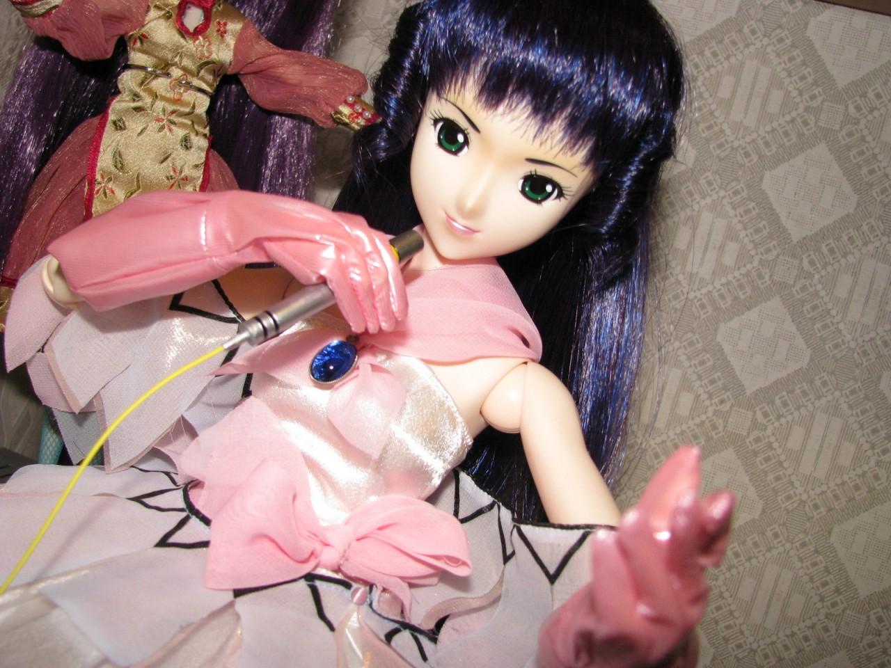 microphone idol macross stage_dress gloves