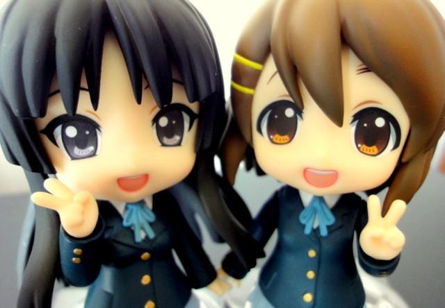 nendoroid k-on! good_smile_company hirasawa_yui akiyama_mio ageta_yukiwo maruhige