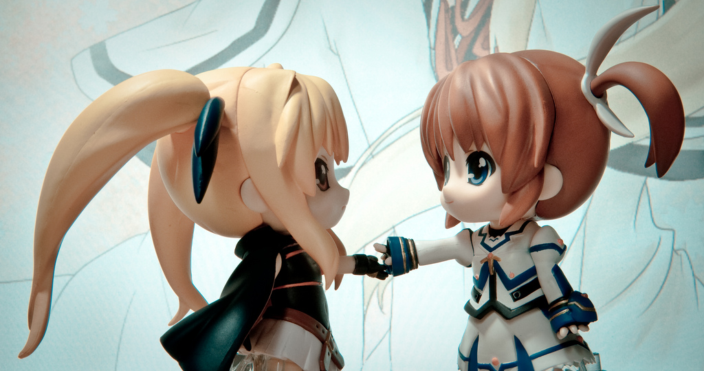 brown shoujo mahou nendoroid movie good_smile_company nanoha fate_testarossa takamachi company lyrical first