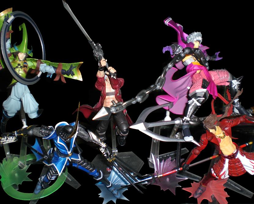pirate katana revoltech samurai naginata crossover male capcom sengoku_basara shogun daimyo devil_may_cry_3