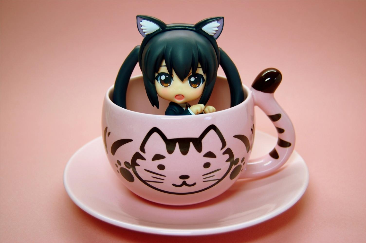 cat cup mug k-on!