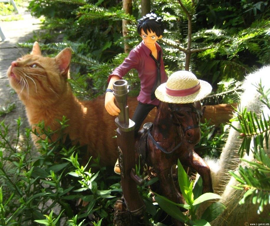 cat gun pirate horse megahouse male tiger one_piece monkey_d._luffy black_sabasu portrait_of_pirates_strong_edition