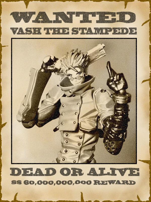 gun revoltech dead_or_alive poster vash_the_stampede yamaguchi