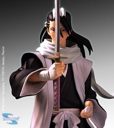 scarf katana hakama gotei_13 white_gloves long_hair black_hair male bleach kuchiki_byakuya haori kenseikan