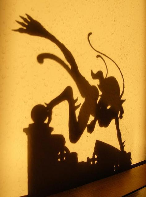 megahouse catgirl blue_hair capcom shadow vampire_savior silhouette excellent_model felicia melting_neuron