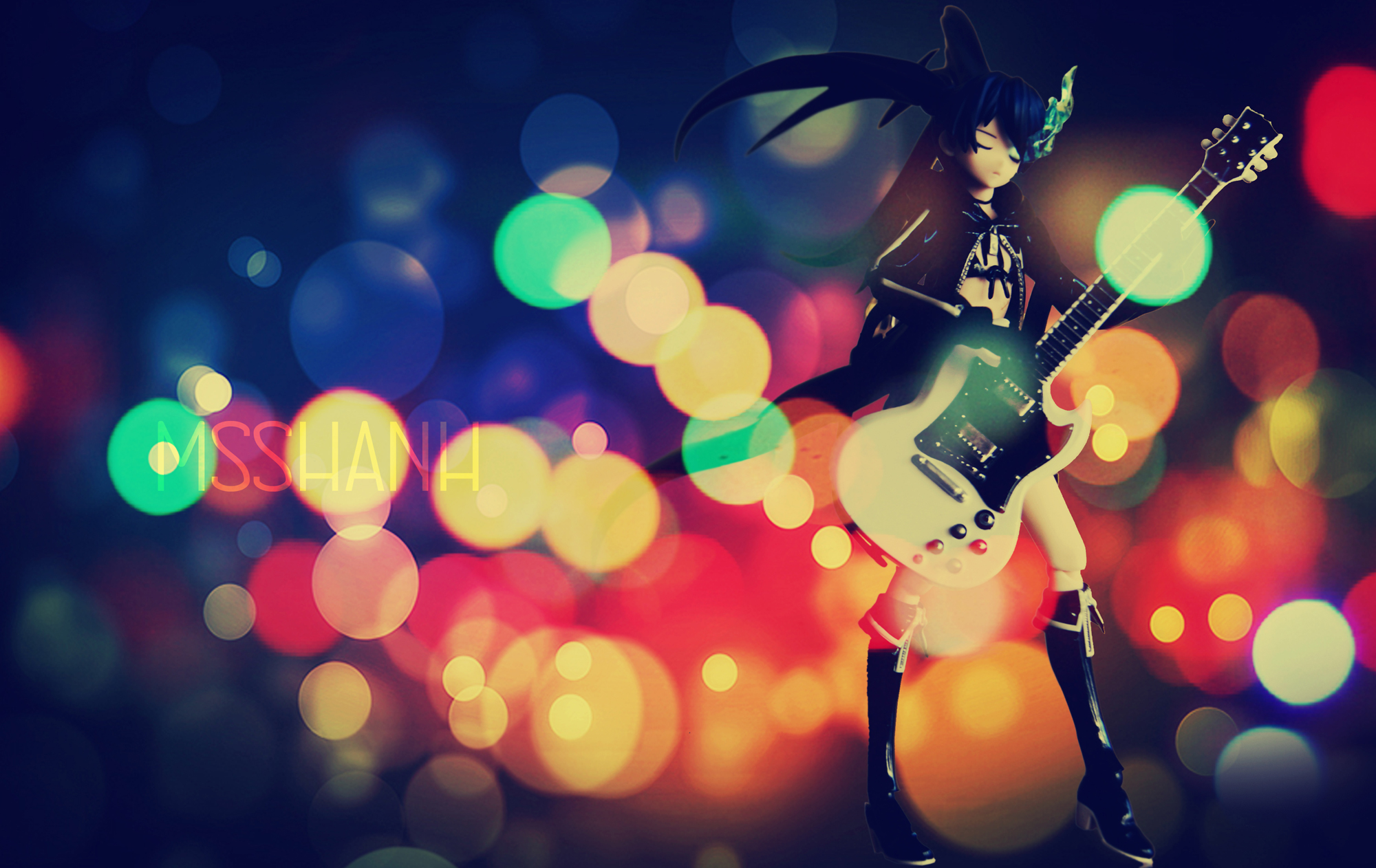 guitar black_★_rock_shooter