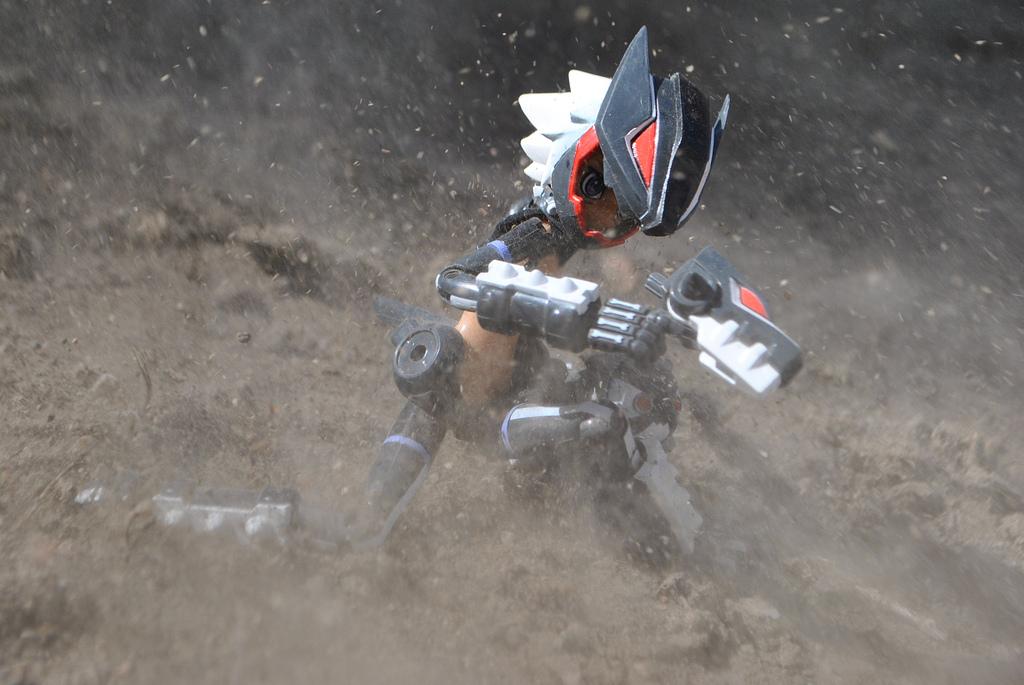 gun mecha_musume helmet tan_skin action action_pose busou_shinki konami mms gabrine hellhound