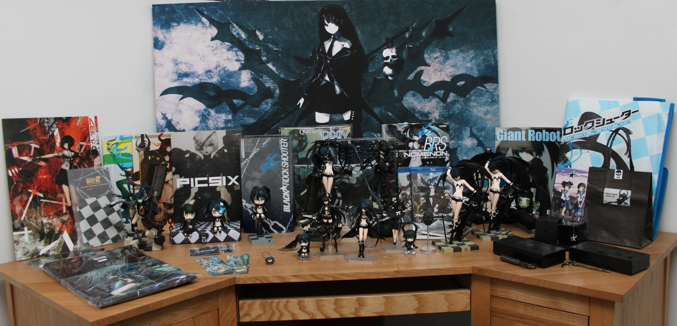 keychain doujin plush charm figure collection dead_master black_gold_saw brs black_★_rock_shooter