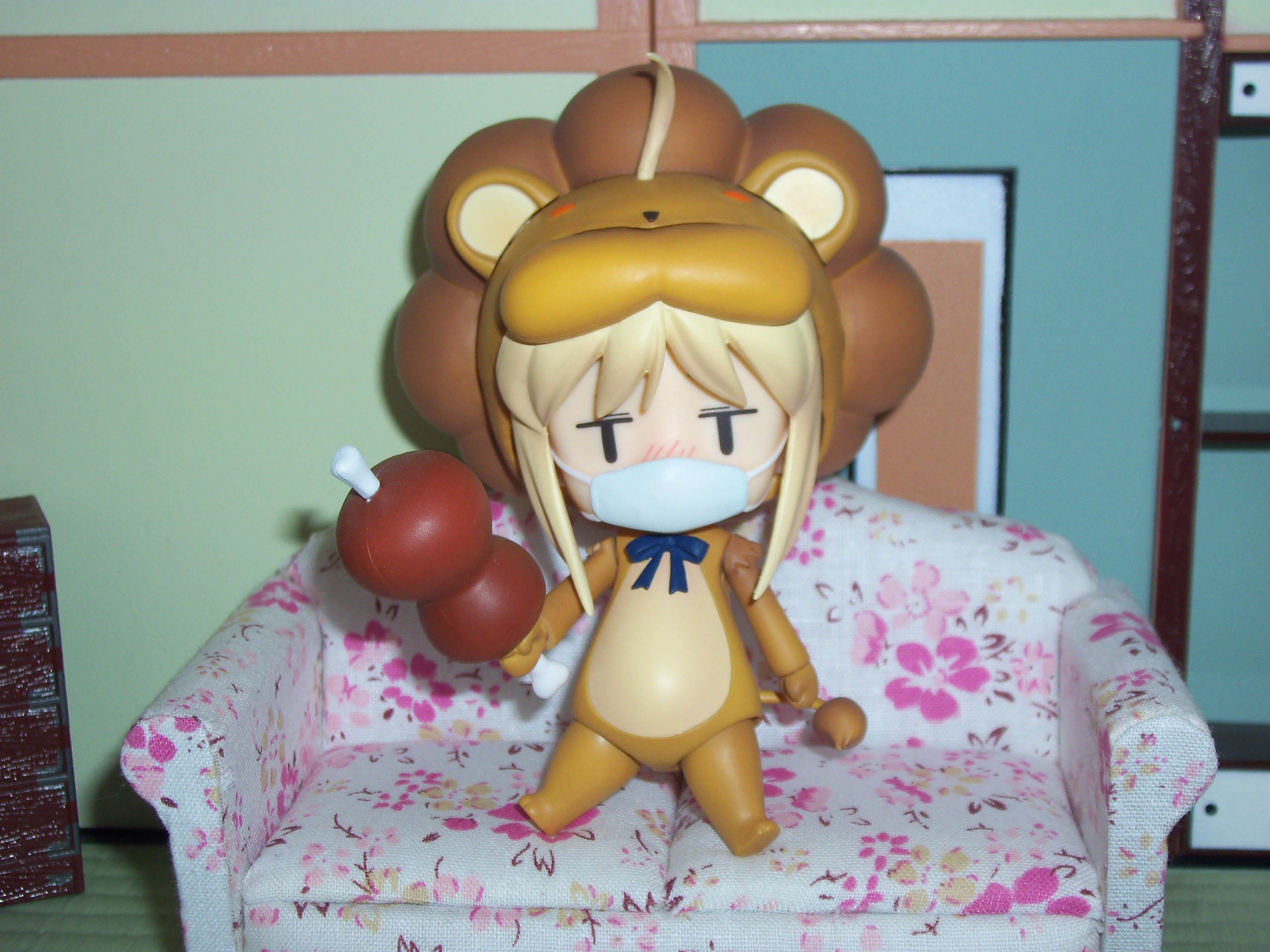 nendoroid saber_lion couch cold nendoroid_playset sick haru-chan