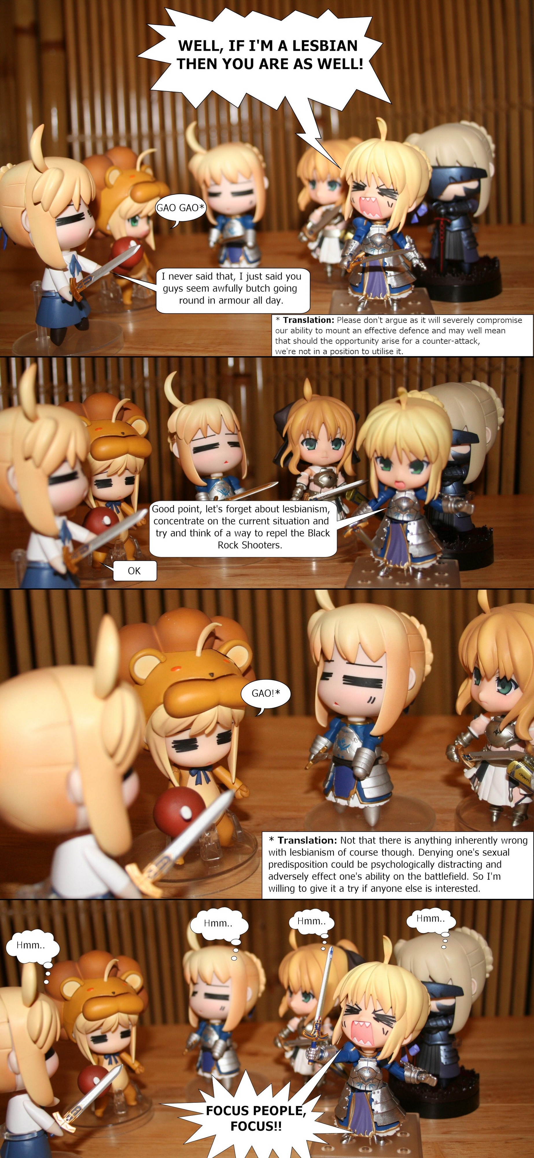 nendoroid saber saber_lion saber_lily good_smile_company fate/stay_night fate/tiger_colosseum nendoron fate/unlimited_codes oda_tsuyoshi takano_meishi hetare_saber hetare_saber_alter