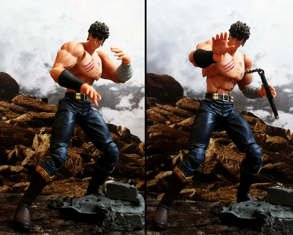 fighting_pose shirtless nunchuck manly hokuto_no_ken kenshiro fist_of_the_north_star