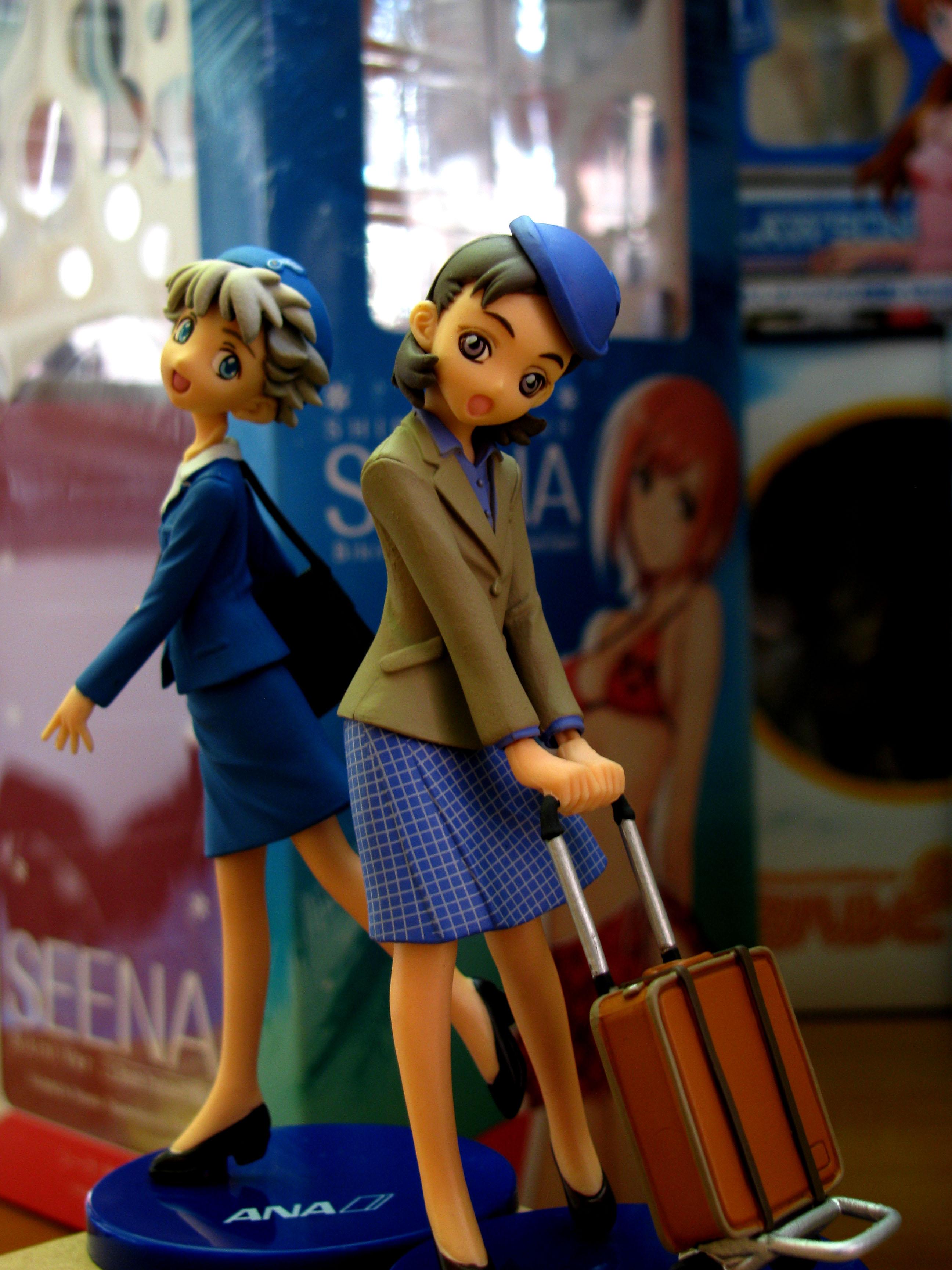 uniform bag female kaiyodo fly pretty ana anniversary trading_figure hostess luggage flying_company