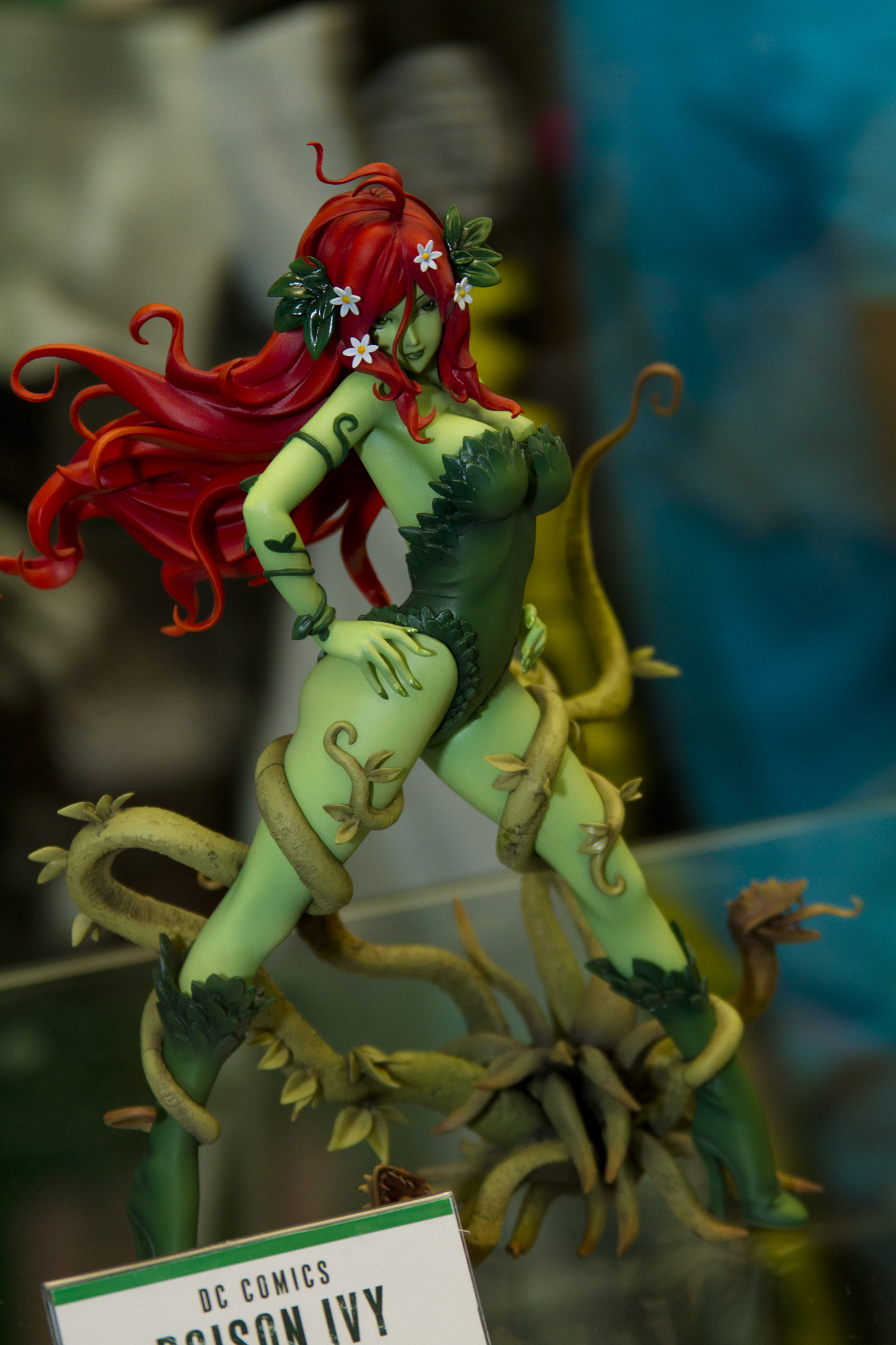 kotobukiya green_skin red_hair batman yamashita_shunya dc_x_bishoujo poison_ivy bishoujo_statue