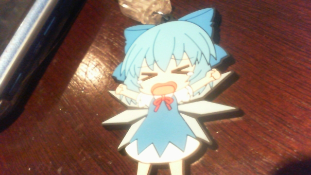gift nendoroid_plus touhou_project cirno team_shanghai_alice rubber_strap trading_rubber_strap_-_touhou_project