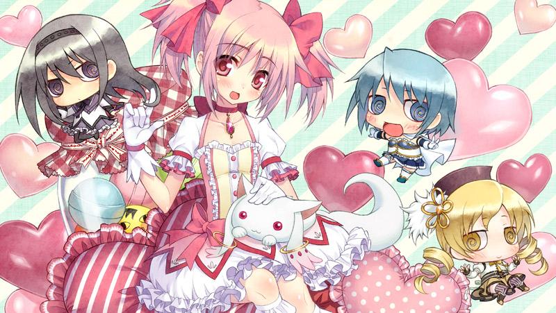 megahouse concept_art mahou_shoujo_madoka★magica miki_sayaka tomoe_mami akemi_homura cutie_figure_mascot