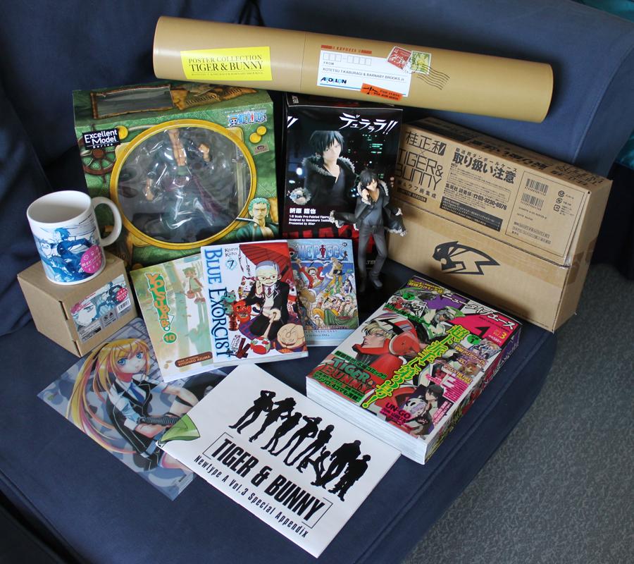 """megahouse comics mug one_piece alter artbook bandai roronoa_zoro orihara_izaya ascii_media_works durarara!! shueisha s.h.figuarts altair numakura_toshiaki oda_eiichiro penguin_parade azuma_kiyohiko yotsuba&! tiger_&_bunny wild_tiger toei_animation ao_no_exorcist katou_kazue narita_ryougo katsura_masakazu portrait_of_pirates_""""sailing_again"""" kaburagi_t._kotetsu barnaby_brooks_jr. mawaru_penguindrum takakura_kanba takakura_shouma princess_of_the_crystal penguin_2-gou penguin_1-gou penguin_3-gou ishiyama_yuuki"""