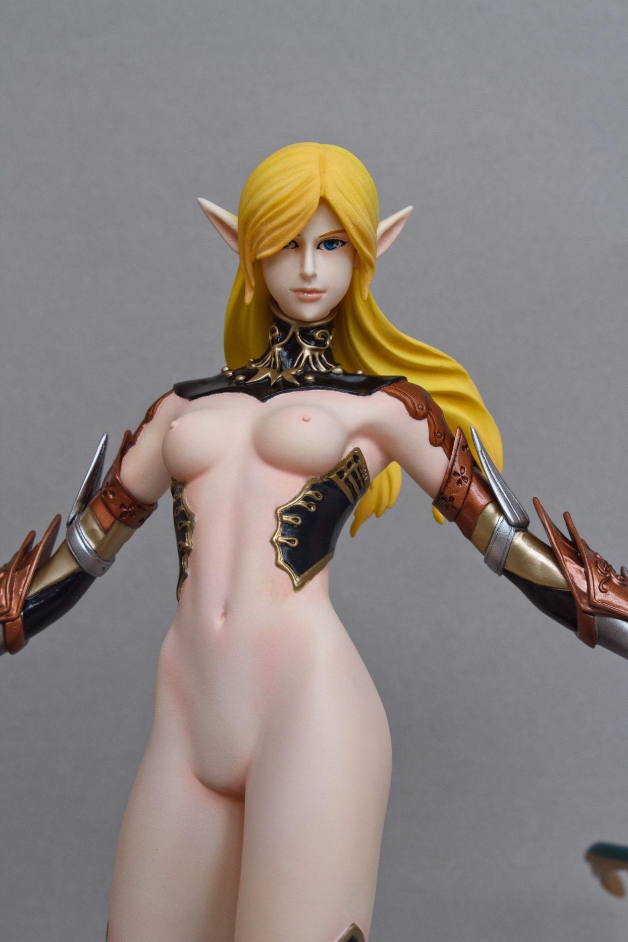 archer blond_hair elf long_ears lineage_ii ranger cerberus_project female_archer
