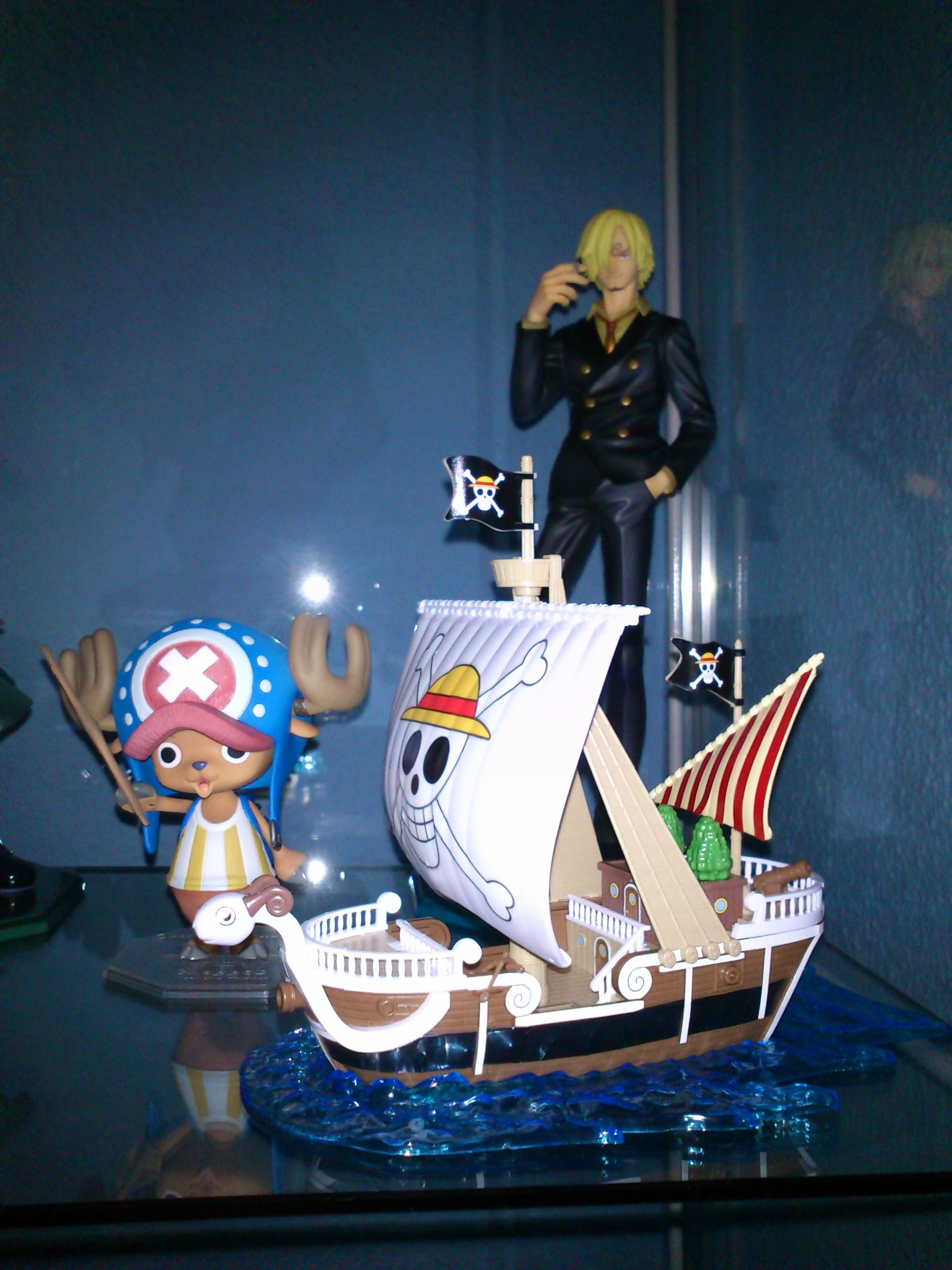 "megahouse one_piece sanji bandai iwamoto_kunihito tony_tony_chopper going_merry portrait_of_pirates_""sailing_again"" one_piece_grand_ship_collection"