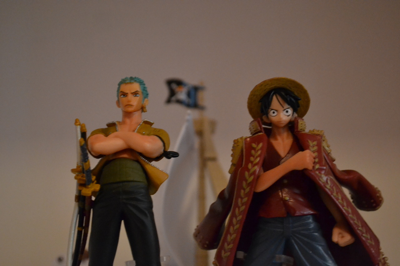 one_piece banpresto monkey_d._luffy bandai roronoa_zoro going_merry one_piece_grand_ship_collection