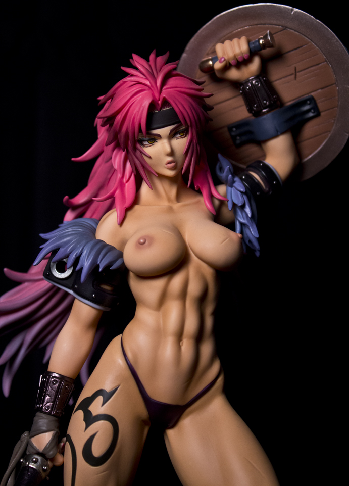 cleavage megahouse girl female queen's_blade risty mohio breast tsukasa_jun female_warrior abs