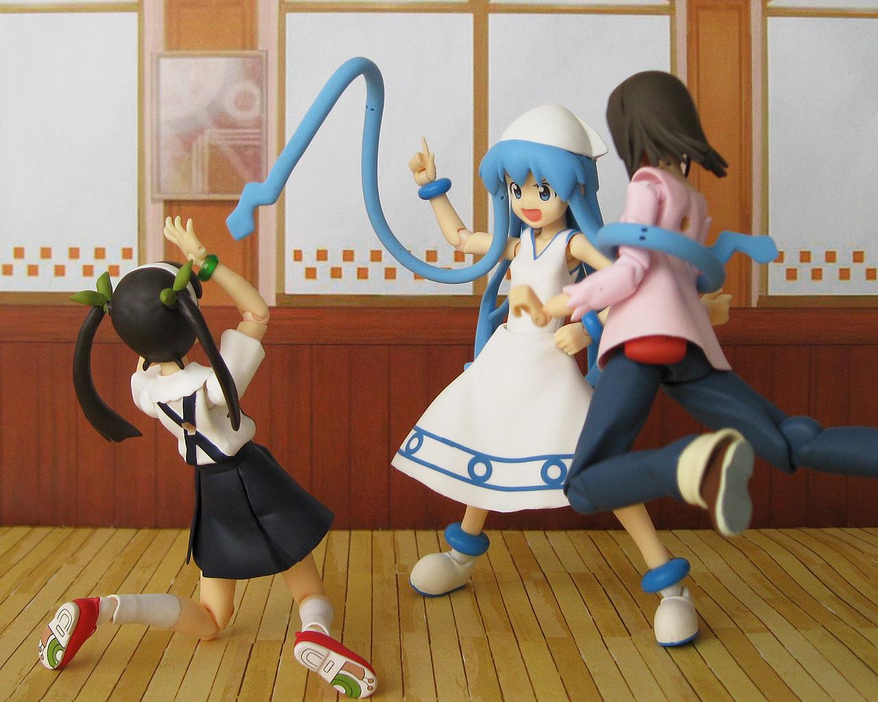 figma max_factory bakemonogatari sengoku_nadeko hachikuji_mayoi asai_(apsy)_masaki shinryaku!_ika_musume ika_musume