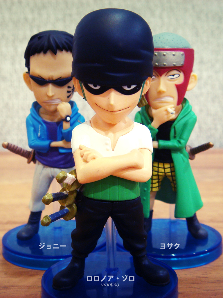 one_piece banpresto roronoa_zoro world_collectable_figure johnny oda_eiichiro yosaku one_piece_world_collectable_figure_vol.7 one_piece_world_collectable_figure_~character_fan_poll_set~