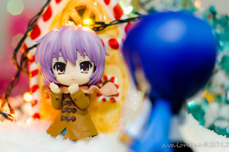 vocaloid nendoroid kaito good_smile_company nagato_yuki xmas suzumiya_haruhi_no_shoushitsu ageta_yukiwo