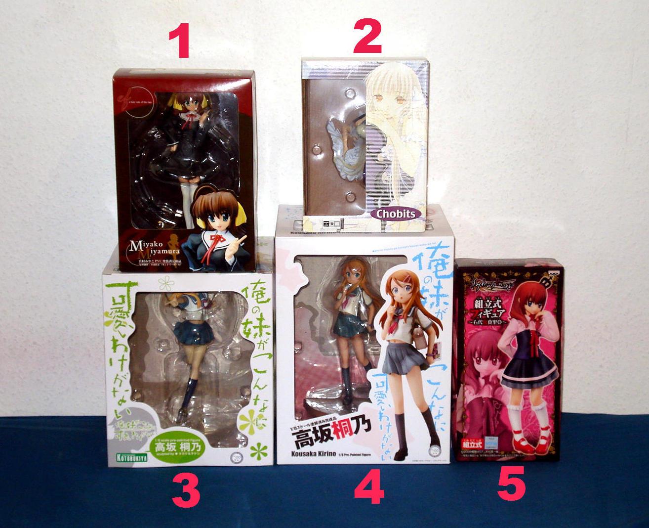 kotobukiya clamp chii chobits kaiyodo umineko_no_naku_koro_ni ushiromiya_maria banpresto miyamura_miyako chara-ani kousaka_kirino ore_no_imouto_ga_konna_ni_kawaii_wake_ga_nai takaku_&_takeshi toy's_works toy's_planning sugawara_(roughness) ef_-_a_fairy_tale_of_the_two. konuma_yoshimasa