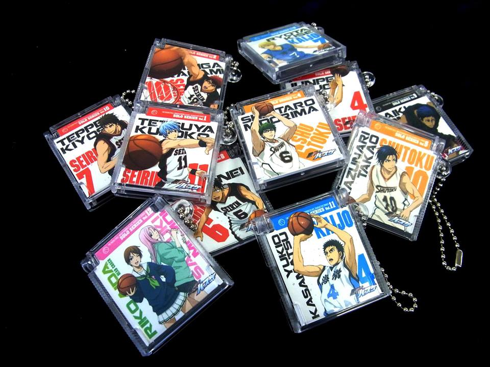strap bandai kuroko_no_basket kuroko_tetsuya kagami_taiga hyuuga_junpei midorima_shintarou kise_ryouta takao_kazunari aomine_daiki izuki_shun koganei_shinji aida_riko kiyoshi_teppei kasamatsu_yukio momoi_satsuki kuroko_no_basket_character_song_cd_collection_-_solo_series