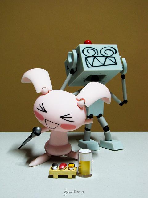 bunny robot singing revoltech beer kaiyodo sushi jun suzuki yamaguchi_katsuhisa doko_demo_issho jyun