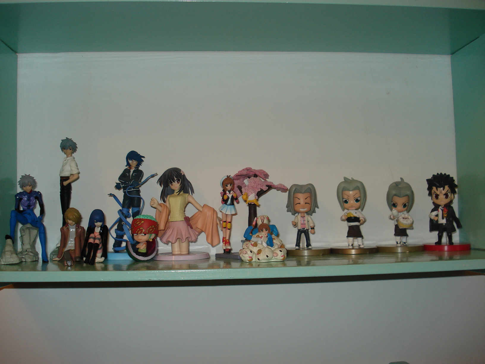 gainax megahouse hgif bandai katekyou_hitman_reborn! roronoa_zoro card_captor_sakura yujin nana shin_seiki_evangelion air_gear nagisa_kaworu khara kinomoto_sakura takara_tomy_a.r.t.s sadamoto_yoshiyuki one_piece_film:_strong_world petit_chara_land gokudera_hayato xanxus amada uchuu_kaizoku_captain_harlock wanijima_agito daiba_tadashi hgif_evangelion_file_01_-_sadamoto_yoshiyuki_collection one_piece:_strong_world_petit_chara_land_-__fruit★party hgif_evangelion_file_02_-_sadamoto_yoshiyuki_collection