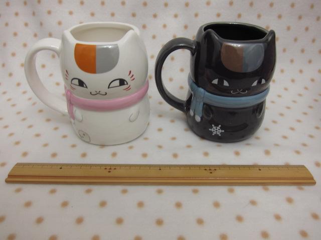mug banpresto natsume_yuujinchou madara_(nyanko-sensei) riou_(black_nyanko) natsume_yuujinchou_itsuka_yuki_no_hi_ni