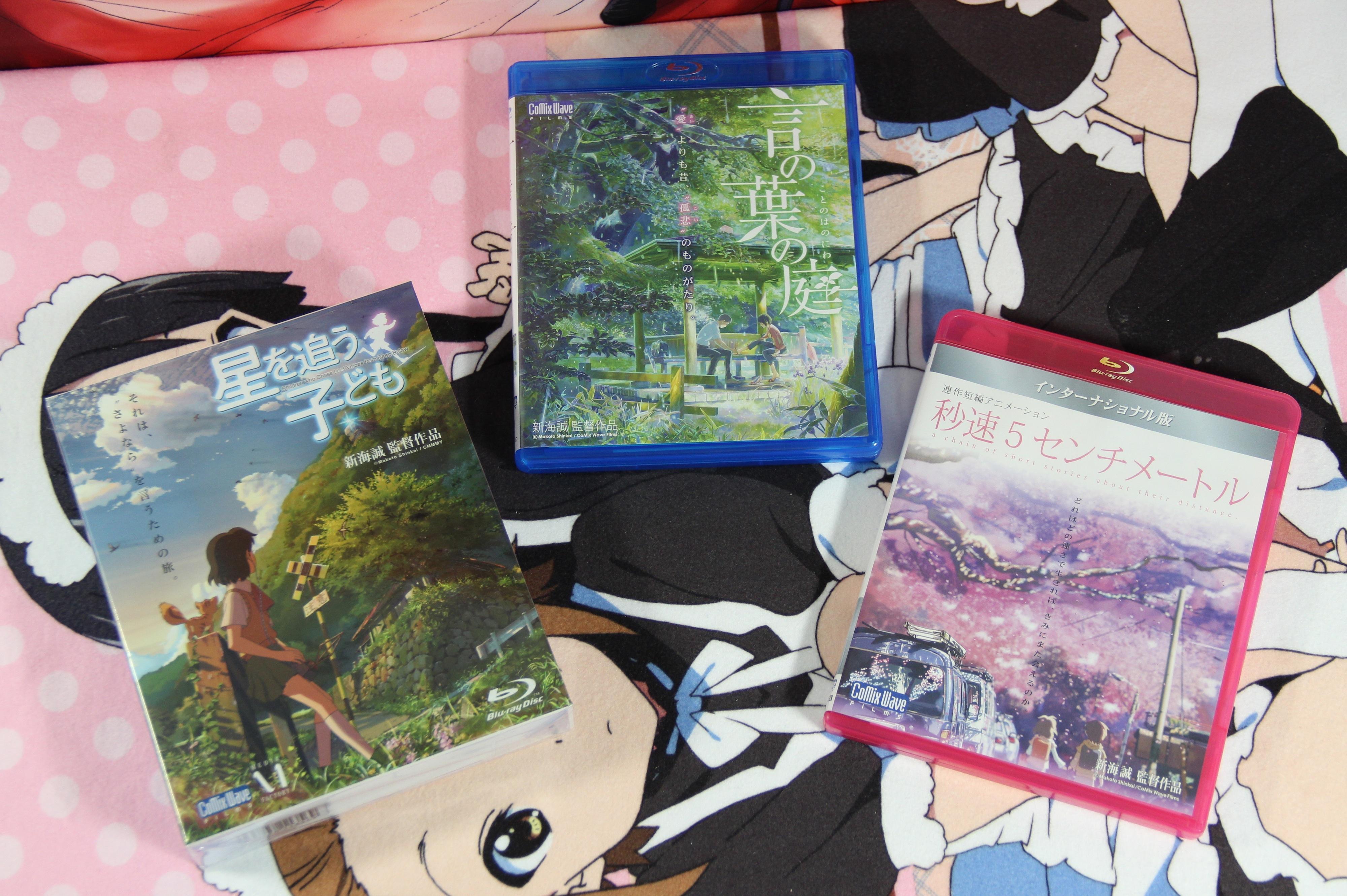 touhou_project media_factory tenmon shinkai_makoto blu-ray comix_wave hoshi_wo_ou_kodomo byousoku_5_centimeter hoshi_no_koe kanojo_to_kanojo_no_neko kotonoha_no_niwa