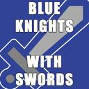 Blue Knights with Swords