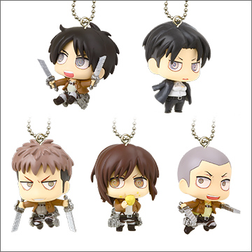 takara_tomy_a.r.t.s deformed_mini yupon shingeki_no_kyojin eren_jaeger connie_springer levi sasha_blouse jean_kirstein deformed_mini_shingeki_no_kyojin_chimi_chara_mascot_2