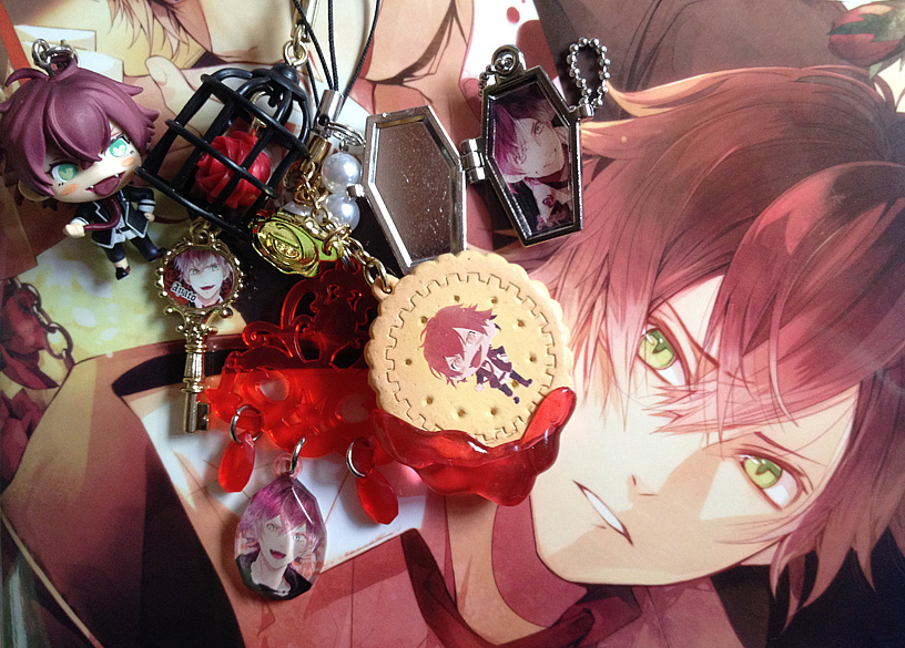 charm strap enterbrain bandai movic takara_tomy_a.r.t.s colorfull_collection idea_factory diabolik_lovers rejet sakamaki_ayato official_visual_fan_book b'slog_collection colorfull_collection_-_diabolik_lovers diabolik_lovers_more,blood diabolik_lovers_biscuit_mascot diabolik_lovers_casket_plate diabolik_lovers_torareru_no_rose_strap diabolik_lovers_chandelier_crystal_strap