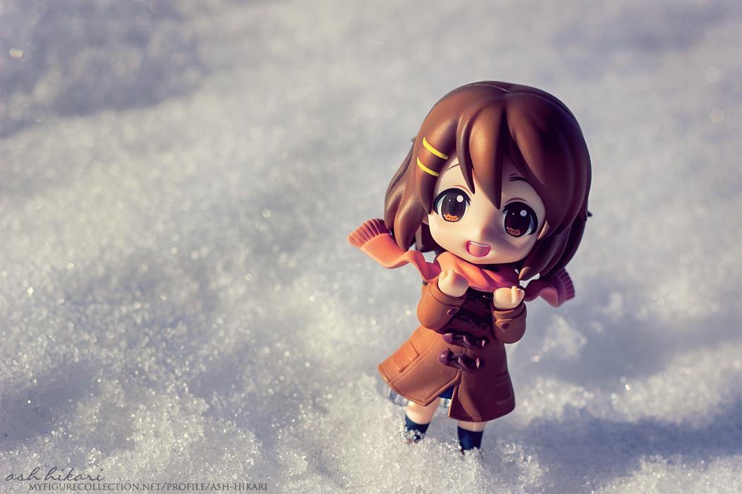scarf nendoroid snow k-on! good_smile_company winter hirasawa_yui nagato_yuki suzumiya_haruhi_no_shoushitsu ageta_yukiwo maruhige