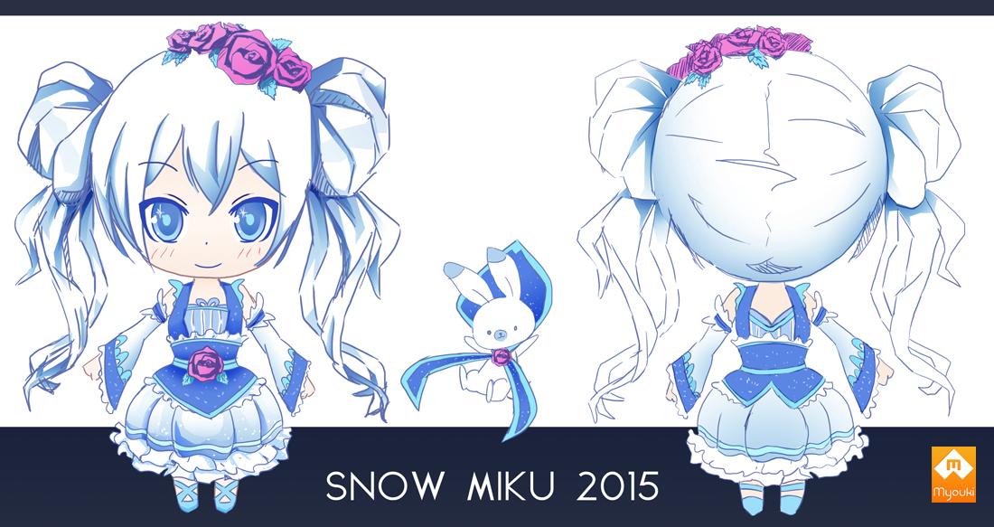 twintails white_hair nendoroid blue_hair blue_eyes hatsune_miku snow_miku