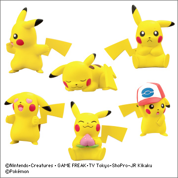 nintendo pikachu takara_tomy_a.r.t.s pocket_monsters_best_wishes! pokemon_bw__pikachu_ippai_collection