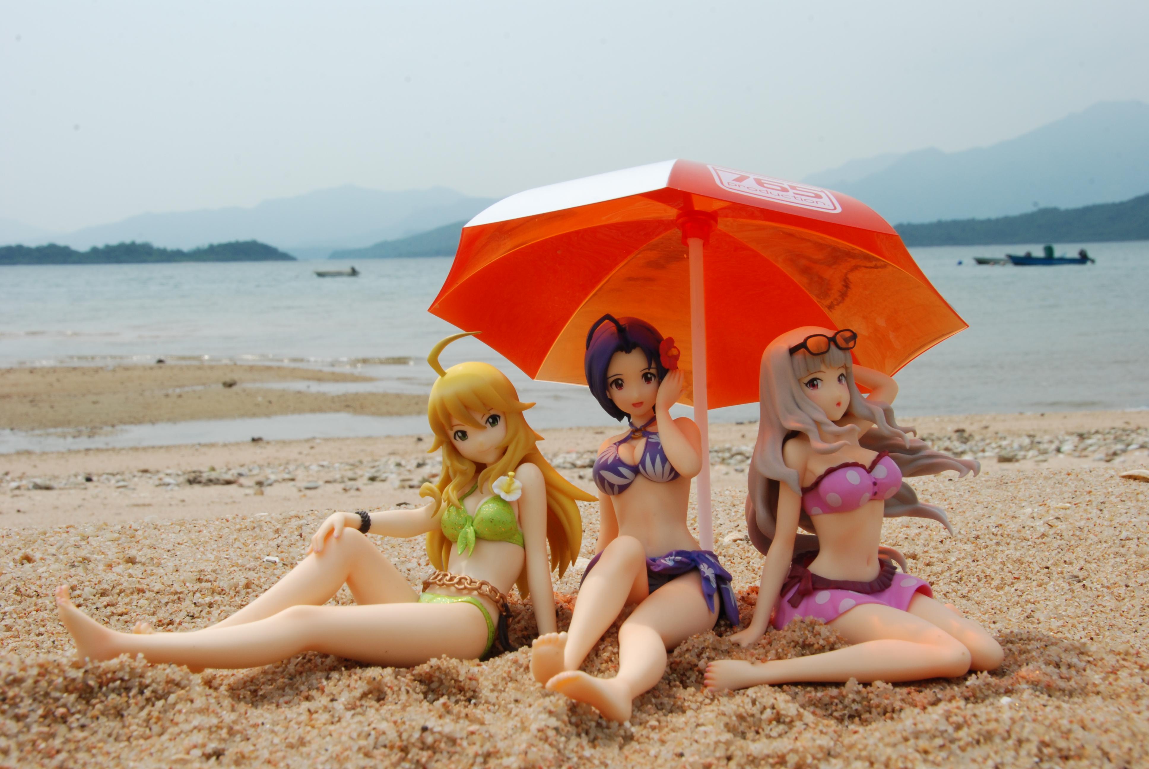 miura_azusa wave bandai_namco_games_inc. beach_queens the_idolmaster_(tv_animation) bifuru shijou_takane hoshii_miki amato