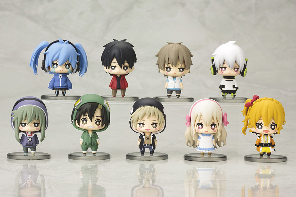 kotobukiya jin one_coin_mini_figure_collection ene konoha kido_tsubomi kisaragi_shintarou seto_kousuke kano_shuuya mekaku_city_actors kozakura_marry kisaragi_momo amamiya_hibiya mekaku_city_actors_one_coin_mini_figure_collection