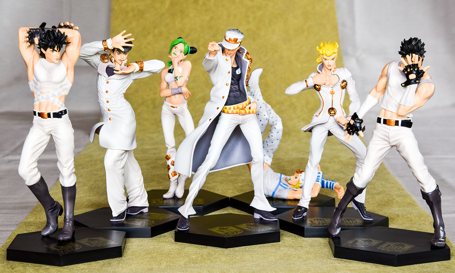 banpresto ichiban_kuji jojo_no_kimyou_na_bouken kuujou_joutarou jonathan_joestar joseph_joestar higashikata_josuke giorno_giovanna jolyne_cujoh johnny_joestar stardust_crusaders battle_tendency phantom_blood vento_aureo ichiban_kuji_jojo_no_kimyou_na_bouken_anniversaries stone_ocean diamond_is_not_crash steel_ball_run