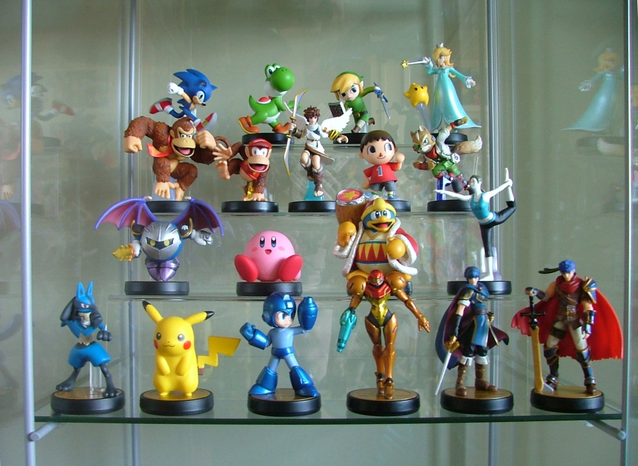 sega nintendo rockman pikachu capcom yoshi link sonic_the_hedgehog kirby samus_aran pit hal_kenkyuujo meta_knight donkey_kong chiko lucario dedede_daiou rosetta game_freak ike intelligent_systems fox_mccloud diddy_kong marth dairantou_smash_bros._for_wii_u amiibo wii_fit_trainer amiibo_dairantou_smash_bros._series murabito