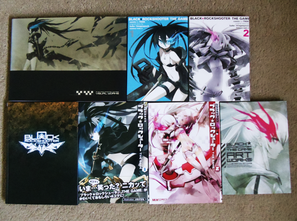 comics huke enterbrain artbook doujinshi kadokawa ufotable imageepoch black_★_rock_shooter_-_the_game tnsk hwb