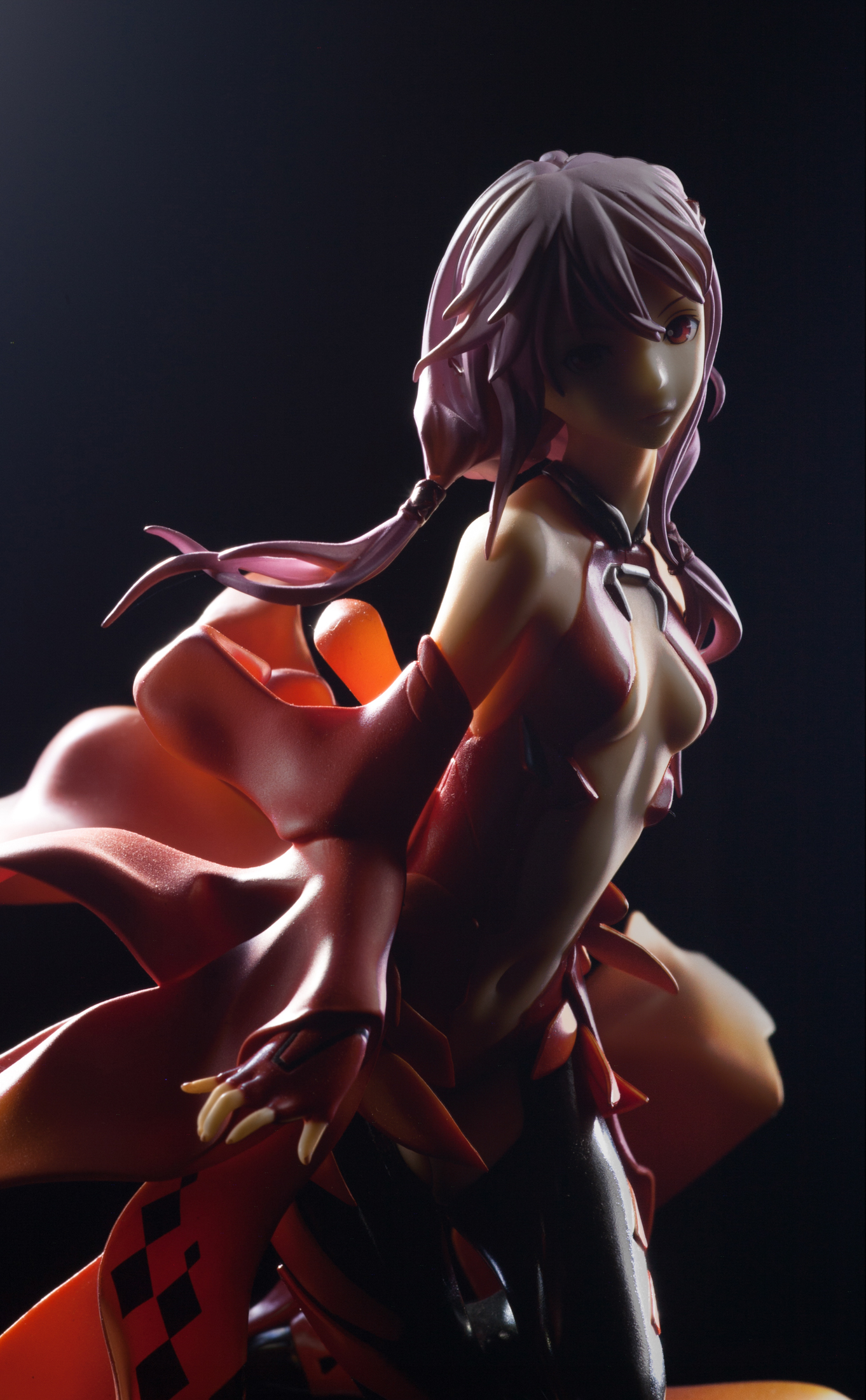 detached_sleeves thighhighs clear_base belly_button black_thighhighs bootleg good_smile_company redjuice 1/8 based_on_artwork guilty_crown yuzuriha_inori 2012 abs iwanaga_sakurako 170_mm 6.5+_inches fe