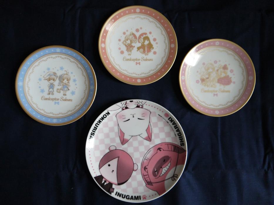 clamp fork card_captor_sakura kero-chan cospa movic plate kinomoto_sakura daidouji_tomoyo li_syaoran yue gugure!_kokkuri-san kokkuri-san shigaraki inugami