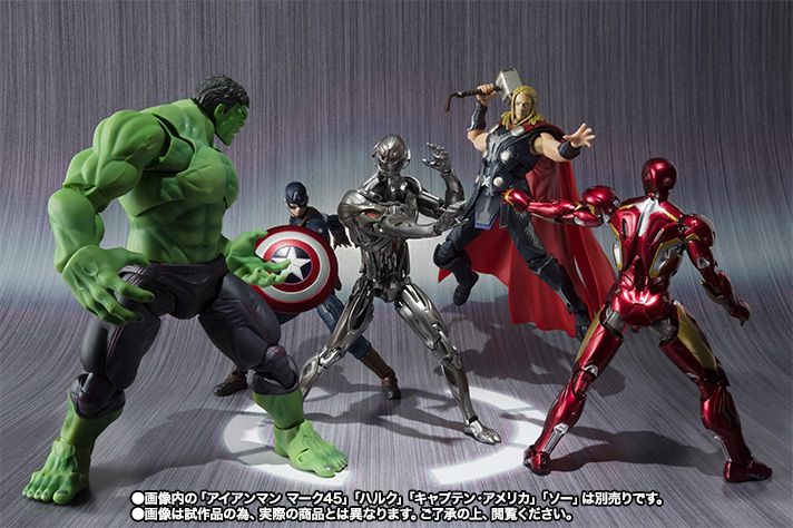 marvel bandai thor s.h.figuarts captain_america hulk avengers:_age_of_ultron iron_man_mark_xlv ultron