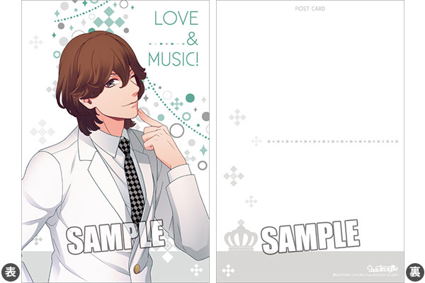 broccoli uta_no☆prince-sama♪ postcard kotobuki_reiji ticket_holder uta_no☆prince-sama♪_trading_clear_ticket_file_w/mini_postcard_white_suit_ver.