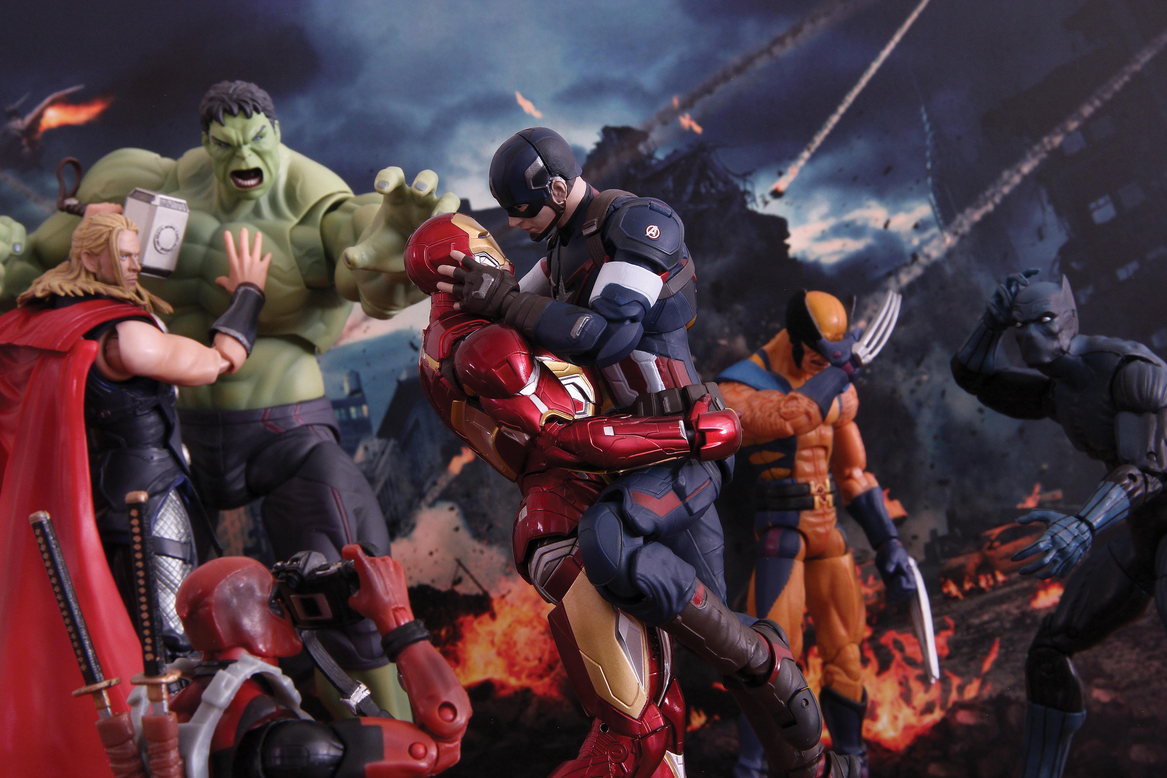 marvel bandai thor s.h.figuarts captain_america hulk avengers:_age_of_ultron iron_man_mark_xlv