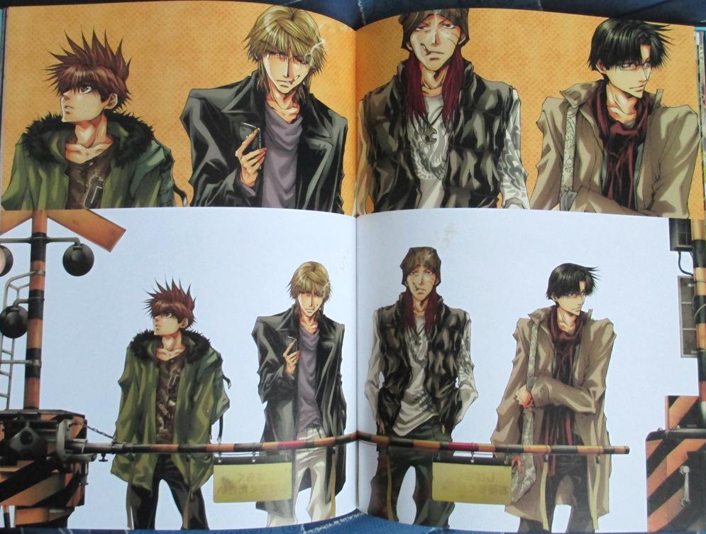 artbook wild_adapter ichijinsha minekura_kazuya saiyuki_gaiden saiyuki_reload bus_gamer hachi_no_su